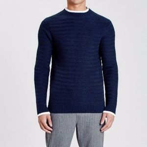 Native Youth Navy Riverfront Knitted Sweatshirt